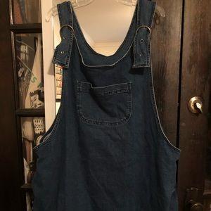 ASOS Curve denim overall dress